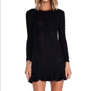 NWT Unif Black Knit Mini Dress
